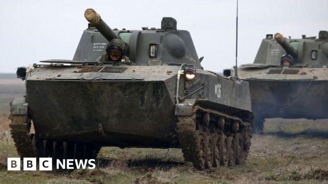 Russian 'troop build-up' near Ukraine alarms Nato #world #BBC_News