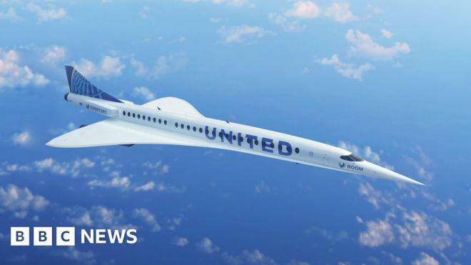 United plans supersonic passenger flights by 2029 #world #BBC_News