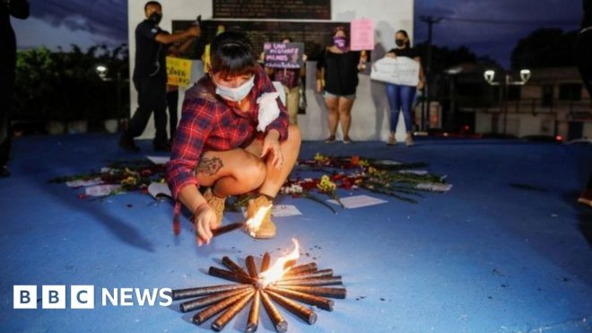 Mexico police under fire after woman's death in custody #world #BBC_News