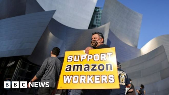 Amazon holds early lead in historic union election #world #BBC_News