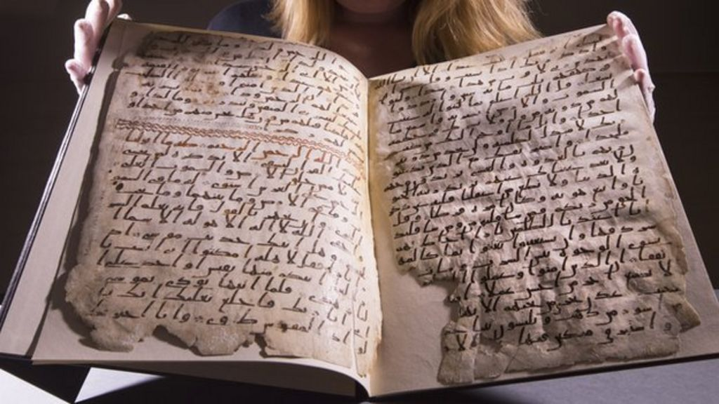 Fragments of a mid-seventh-century manuscript of the Qu'ran in the Mingana Collection, Cadbury Research Library, University of Birmingham
