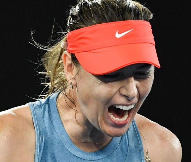 Australian Open  Maria Sharapova Beats Defending Champion Caroline Wozniacki Bbc Sport