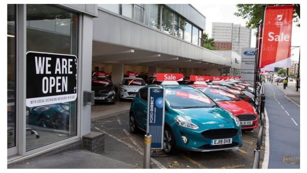 A showroom for second hand cars