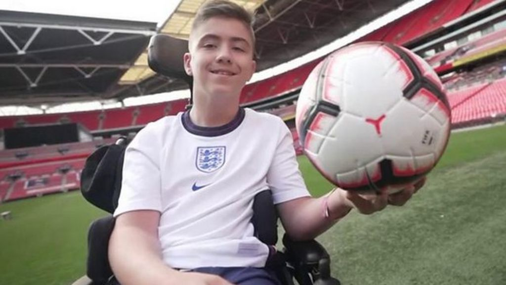 , Rhys, 13, trains with England cerebral palsy team at Wembley after social media abuse, The Evepost BBC News