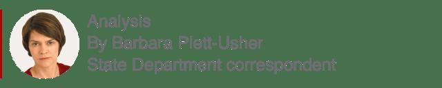 Analysis box by Barbara Plett-Usher, State Department correspondent