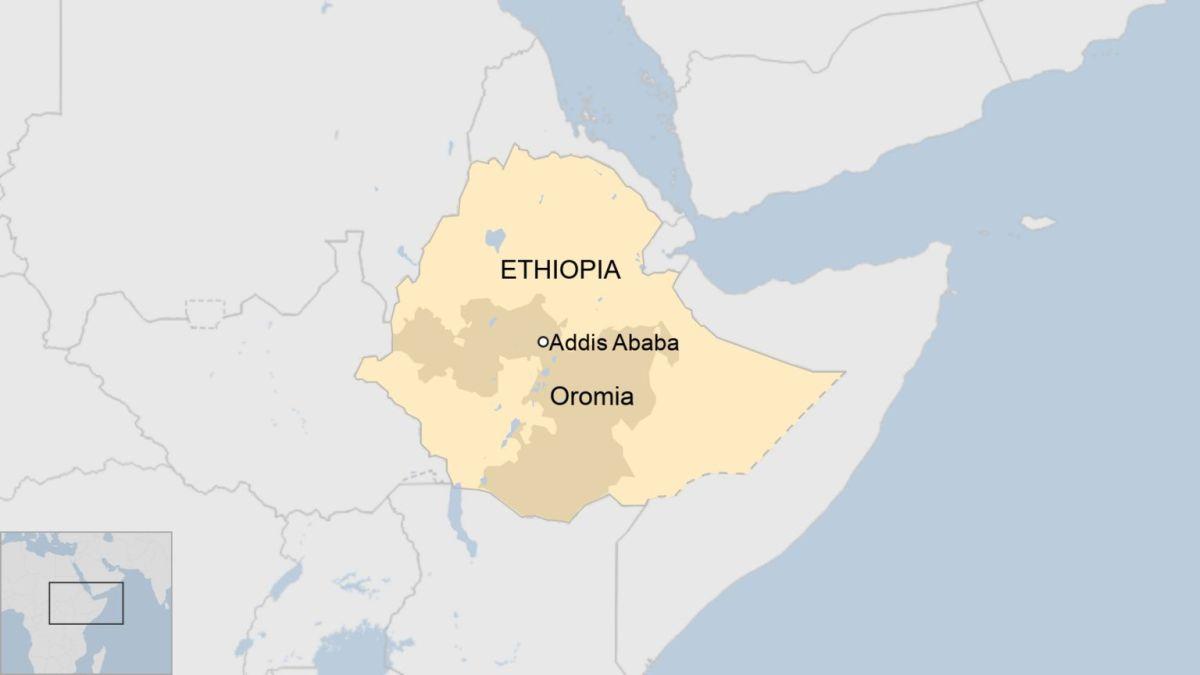 Map of Ethiopia, showing Oromia