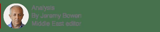 Cuadro de análisis de Jeremy Bowen, editor de Oriente Medio