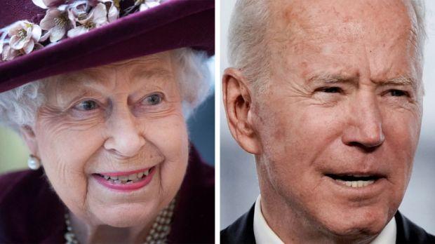 Queen and Joe Biden