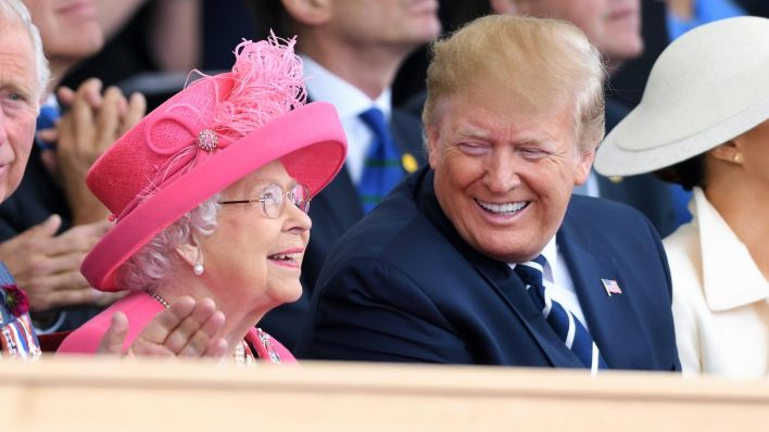 The Queen with Donald Trump in 2019