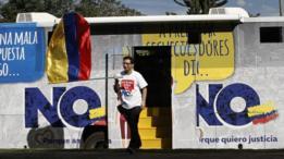 """Campaña a favor del """"No"""" en Colombia."""