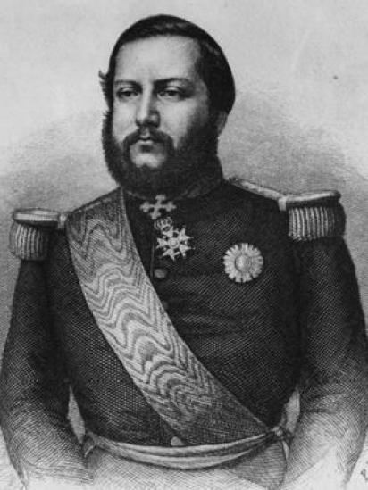 Retrato ilustrado de Francisco Solano López
