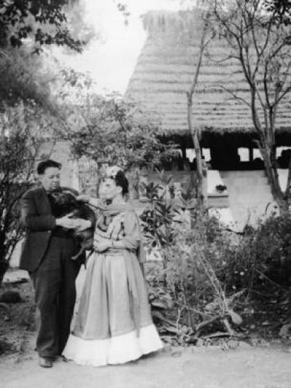 Diego Rivera e Frida Kahlo em 1945