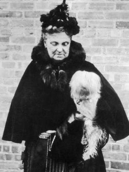 Hetty Green con su perro.