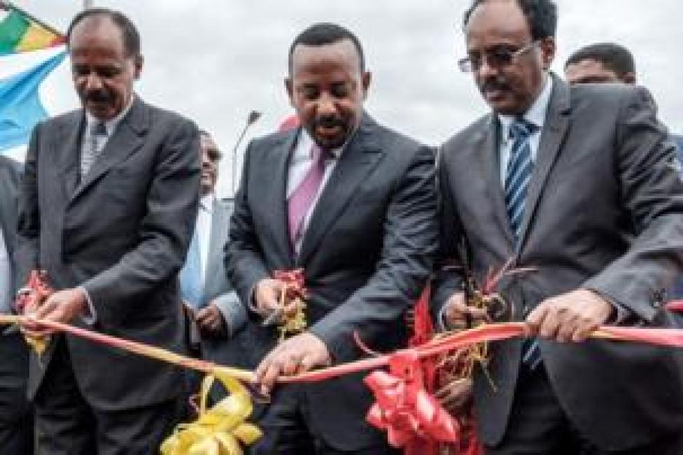 رؤساء أريتريا والصومال مع رئيس الوزراء الإثيوبي