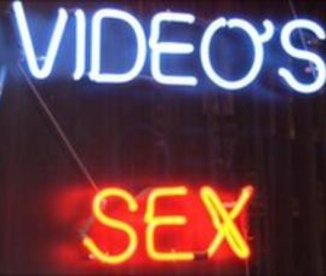 Neon Sign Outside Sex Shop Bbc