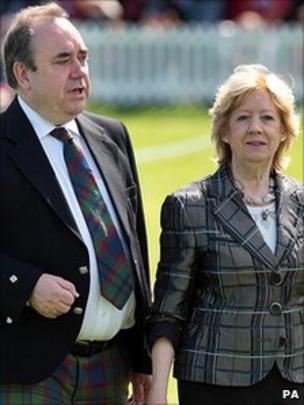 Alex Salmond and his wife Moira