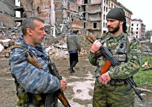 Russian troops in Chechnya