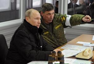 putin and a russian soldier