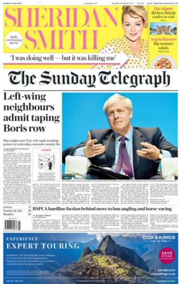 The Sunday Telegraph front page 23.06.19