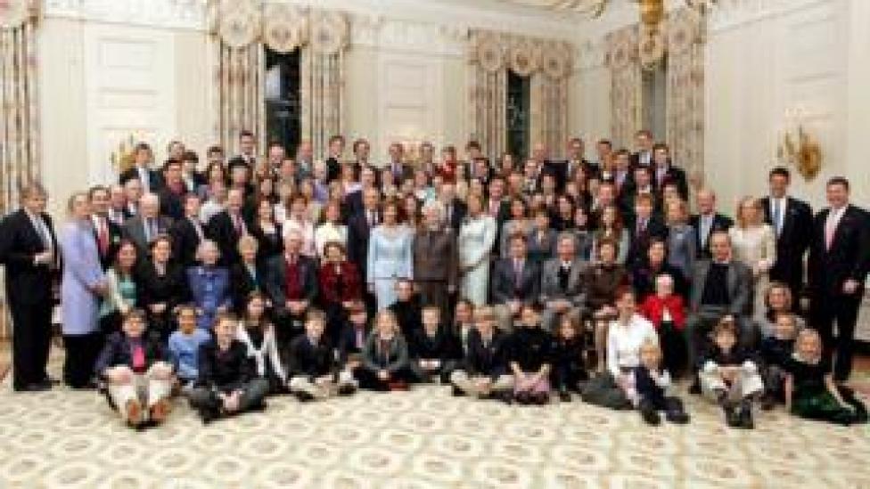 An extended Bush family portrait 19 January 2005