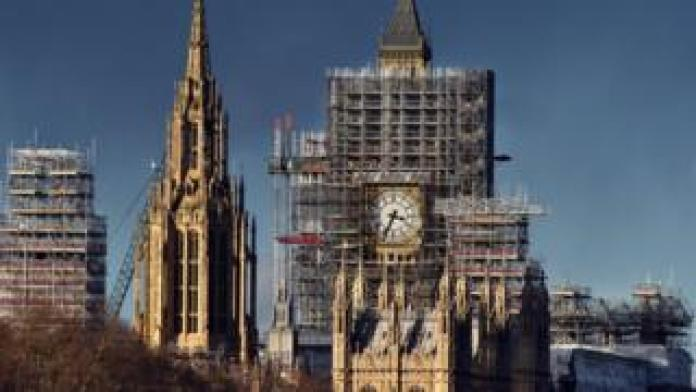Scaffolding on Parliament