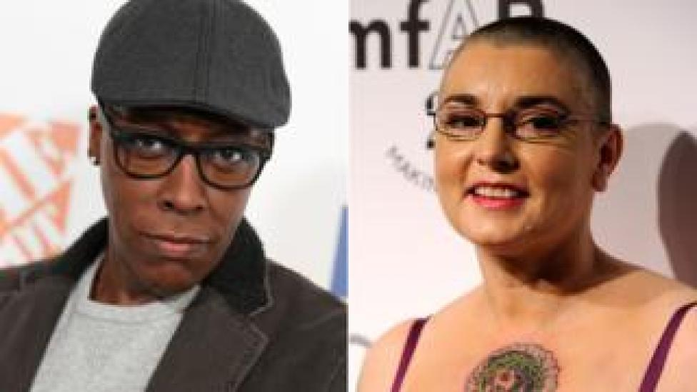 Arsenio Hall and Sinead O'Connor