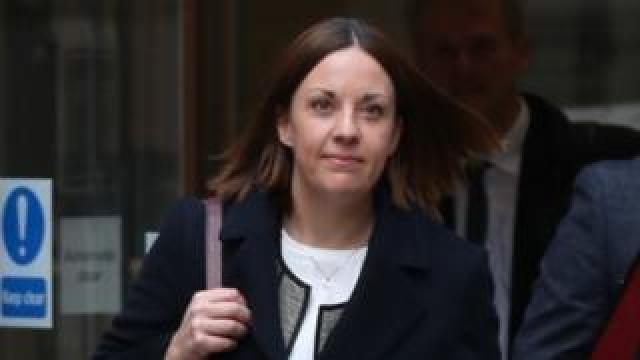 Kezia Dugdale outside court