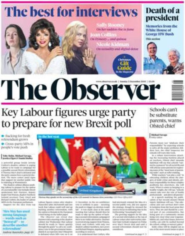 Observer front page, 2/12/18