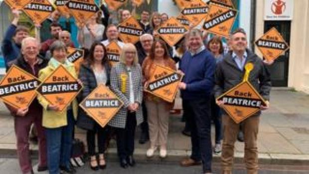 Beatrice Wishart with Lib Dem activists