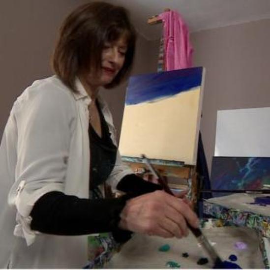 Landscape painter Denise De Batista