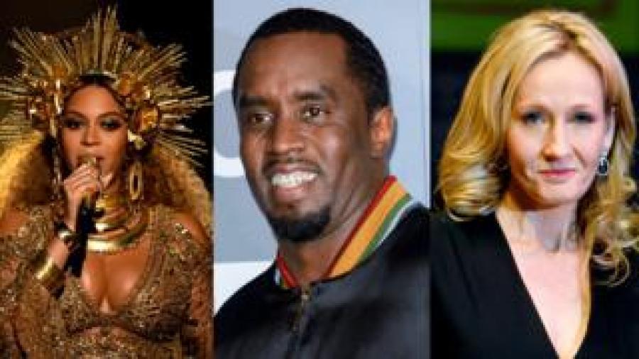 Beyonce, Sean Combs, JK Rowling
