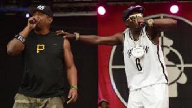 Chuck D and Flavor Flav performing together before the split