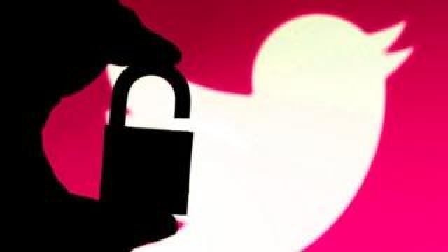 Twitter padlock