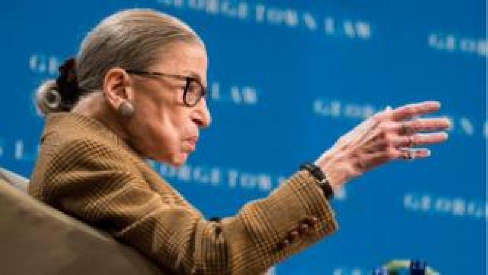 trump US Supreme Court Justice Ruth Bader Ginsburg. File photo