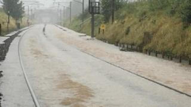 Flooding on West Coast mainline