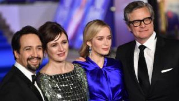 Lin-Manuel Miranda, Emily Mortimer, Emily Blunt and Colin Firth