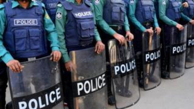File image of police in Dhaka, Bangladesh