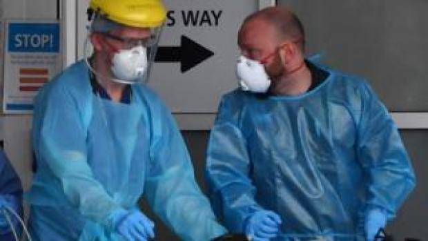 Doctors in Liverpool wearing PPE