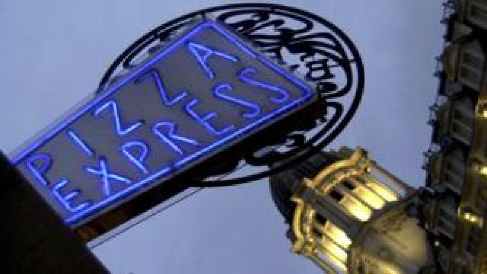 Pizza Express sign