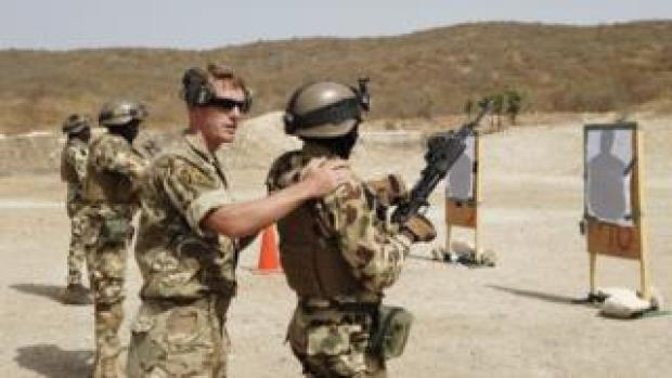 A military training exercise in Senegal