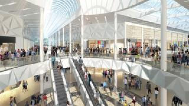 Meadowhall centre illustration