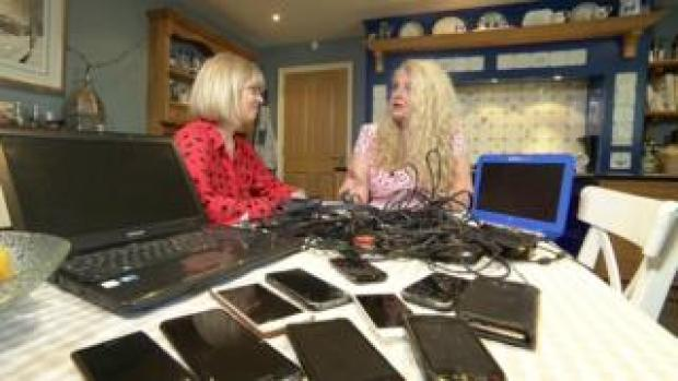 Louise and her family's hoard of old technology is typical of a UK household