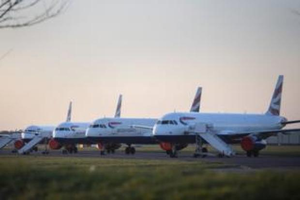 British Airways aircraft parked at Bournemouth airport