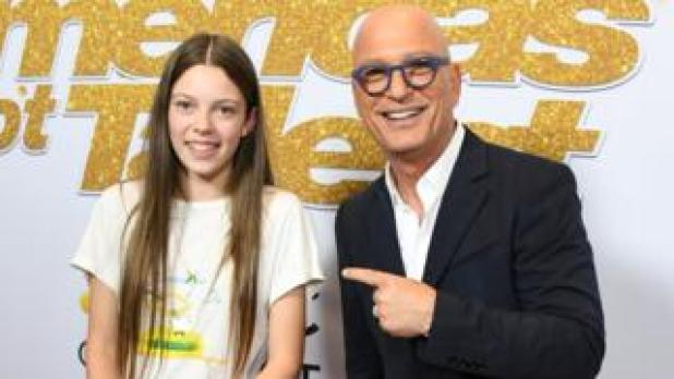 Courtney Hadwin and Howie Mandel