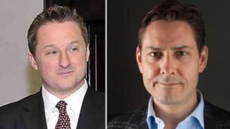 Michael Spavor (L) and Michael Kovrig (composite image)