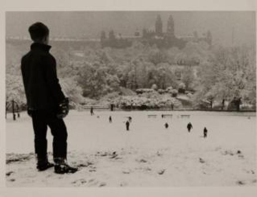 Sledging Kelvingrove Park, 1964