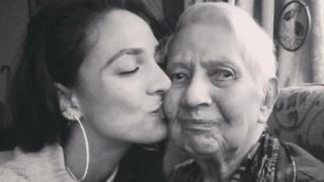 Crystal Apollonia and her grandmother Grace Greenwood