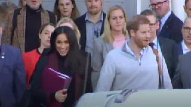 The Duke and Duchess of Sussex arrive at Sydney Airport