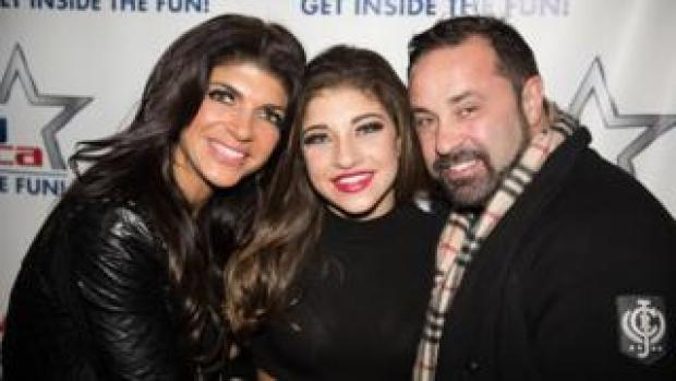 Teresa, Gia and Joe Giudice in 2014