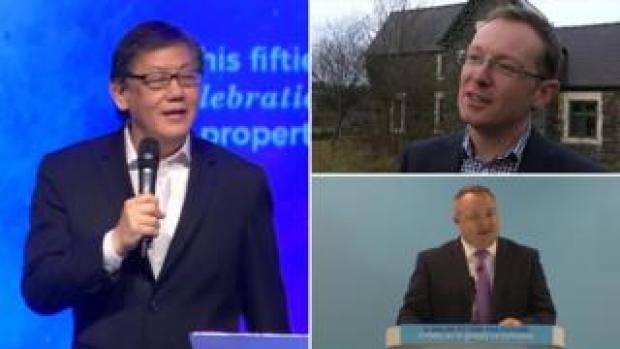 Pastor Yang (left), Russell George (above right) and Darren Millar (below right)